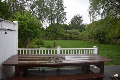 Fenced in backyard- perfect for pets!