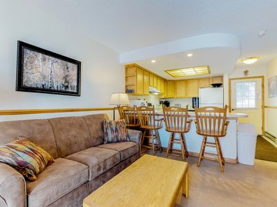 Photo for NEW LISTING! Lovely condo w/shared hot tub & great location 280 yards to slopes