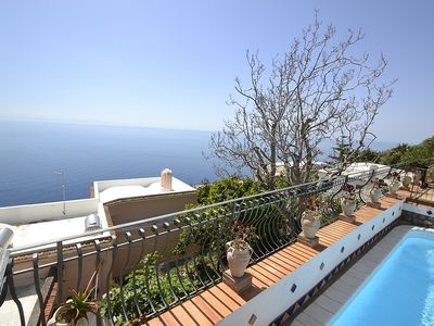 Photo for One bedroom Villa, sleeps 2 in Praiano with Pool and Air Con