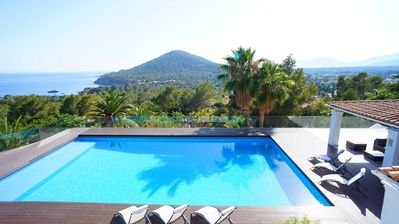 Photo for Villa Zielo - Ibizan style villa for rent with fantastic sea views