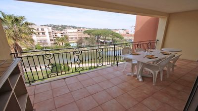 Photo for Apartment T3 alcove - Air conditioning - Wifi - Pool residence - Sainte Maxime