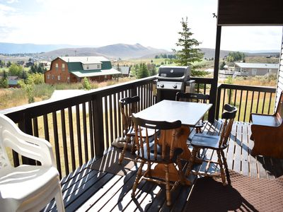 Photo for Cozy Sweetwater Cabin with mountain and lake views, private deck and grill