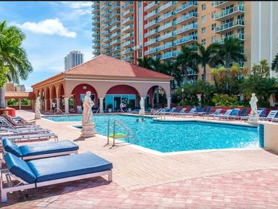 Photo for Beautiful Waterfront View w/ Pool, BBQ's, HDTV, WiFi, PARKING, Walk to Beach!