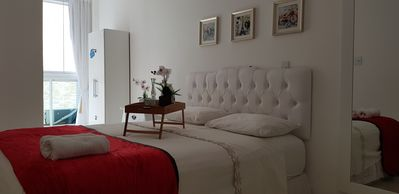 Photo for APARTMENT 3 BEDROOMS (1 SUITE), PORT. 24 HOURS, GARAGE, SWIMMING POOL, 50M FROM THE BEACH