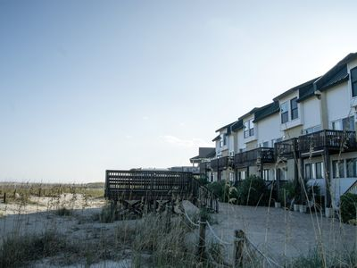 Photo for TYBEE ISLAND DIRECTLY OCEANFRONT pet friendly, 2 bdrm, 2 bathroom condo.