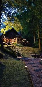 Photo for Beautiful Authentic Log Cabin with Private Boat Dock on The Little Red River