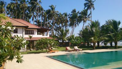 Photo for Beach Villa With Pool and Tennis Court In Wadduwa, Fully Staffed, 3 Bedroom, AC