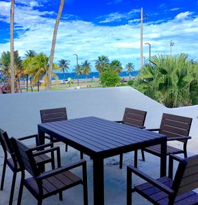 Outdoor dining area in Beach-view Terrace