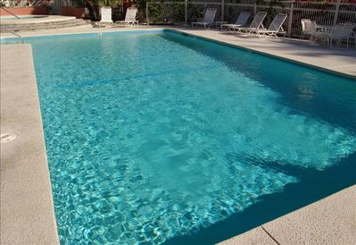 Pool and Jacuzzi are a short 2 condos away: often  private