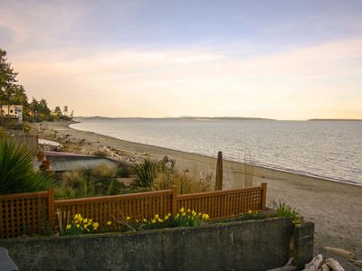 Photo for Oceanfront Beach Suite In Cordova Bay