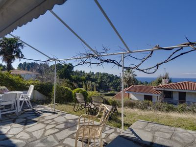 Photo for Beautiful maizonette with garden and view in Elani.