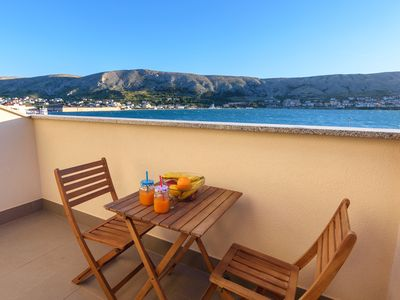 Photo for Apartments Jadran - beautifull apartmant with balcony, see view and free parkig