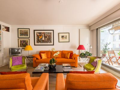 Photo for Vibrant 1BR Apartment with balcony, 12 minute journey from Ile de Cite, by Veeve