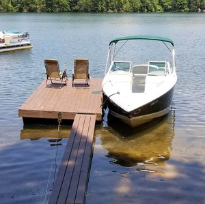Boat dock can support a 25 foot 4.500 lb. boat.