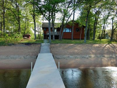 Photo for Leech Lake Perfect Sand Beach, No Weed Sand Swimming, boat lift