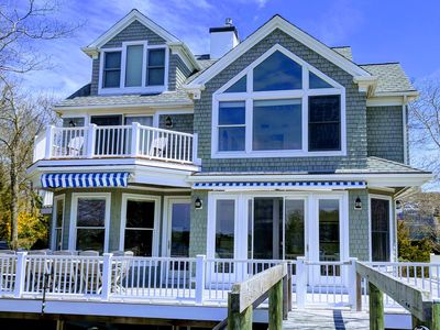 Photo for Bright spacious home with spectacular water views and private dock