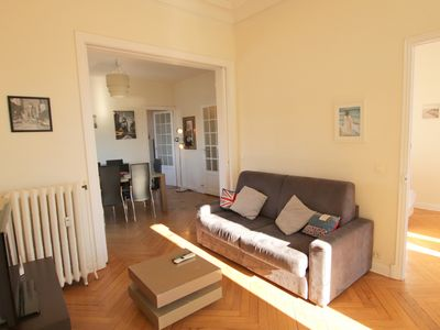 Photo for Grimaldi: beautiful one bed flat, balcony, Nice city center