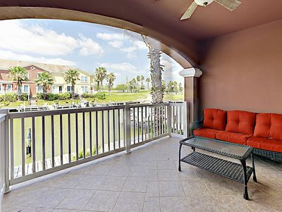 Photo for Waterfront 3BR w/ Two Balconies & Golf Club Amenities