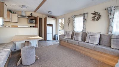 Photo for VERY PEACEFUL & MODERN CHILD & PET FRIENDLY STATIC CARAVAN ON A 5* HOLIDAY PARK