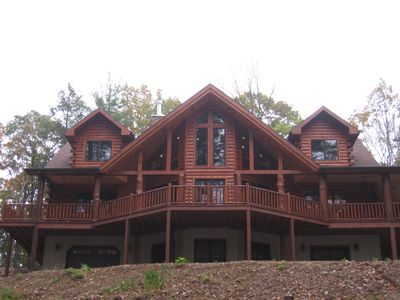 Photo for Log Home/Cabin on private, 25 acre wooded property - minutes from Raystown Lake