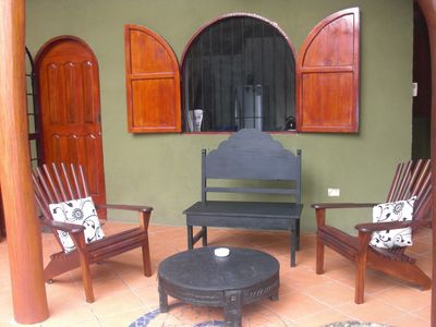 Patio at the front of Casa Verde