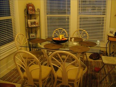 Dining area which adjoins the living area
