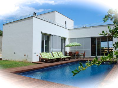 Photo for Architect's villa near the beach, Private pool (south), Free Wifi, Air conditioning