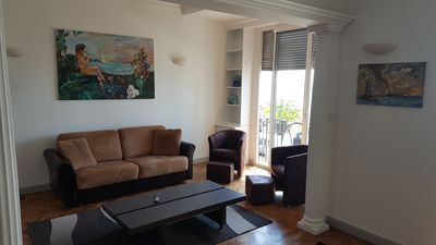 Photo for Nice furnished apartment for 6 people, with sea view on the Promenade des Anglais