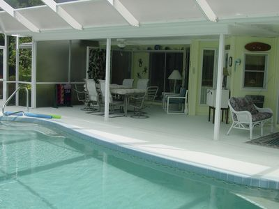 pool and lanai to master bedroom and dining room