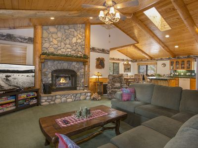 Photo for Moose Creek Lodge: Single Level, Log Cabin! Foosball Table! Jacuzzi Tub! Central Location!