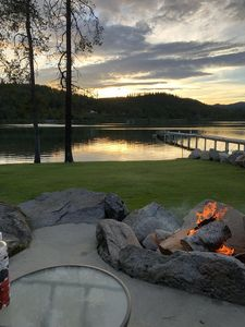 Photo for Waterfront Oasis, Luxury Log Home on the shores of Pend Oreille River