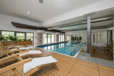 The indoor swimmingpool
