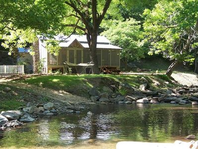 Creekside Cabin on 40 Acres, F/P, Campfire, Trail by Creek