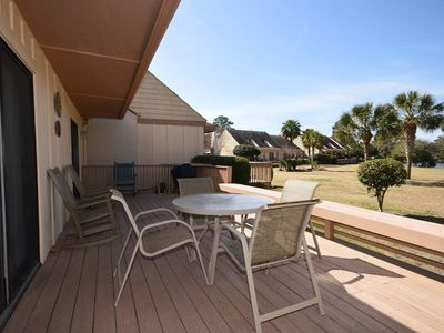Photo for 765 Queens Grant | Walk to Beach & Pool | Overlooking Lagoon | Dog Friendly | Palmetto Dunes