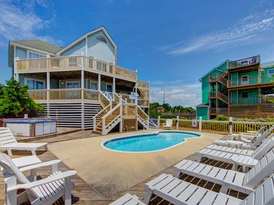 Photo for WEEKS LOWERED Semi Oceanfront 5 bed, 3 bath Avon w/ private pool & hot tub