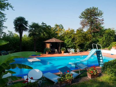 Photo for WELCOME TO VILLA SOLARIA: swimming pool, tennis and golf at the door of the monferrato