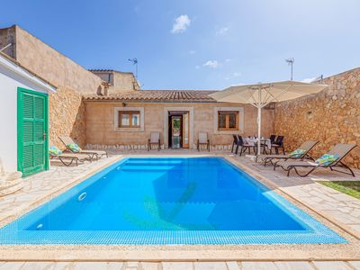 Photo for Beautiful Holiday Home Can Botelles with Pool, Air Conditioning, Wi-Fi, Balcony & Terrace; Parking Available