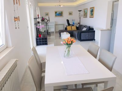 Photo for Luxury Apartment  close to the beach and pools with a stunning sea view