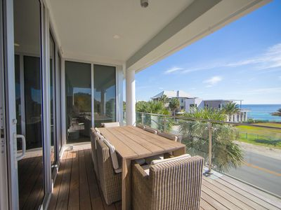 Photo for AMAZING GULF VIEWS * #203 Viridian at Seagrove *  LUXURY * 1 Beach Set included* 3BR/3.5BA * Slp 8