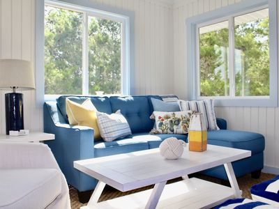 Photo for Open after Michael! As seen on HGTV! Designer coastal cottage w/beach/bay access