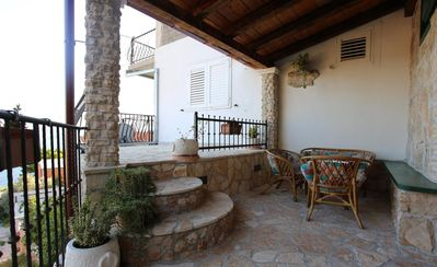 Photo for Two bedroom apartment with terrace and sea view Lokva Rogoznica (Omiš)