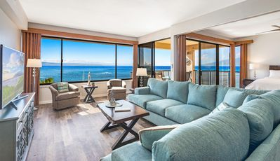 Beautiful view from every room.  Queen size sleeper sofa.
