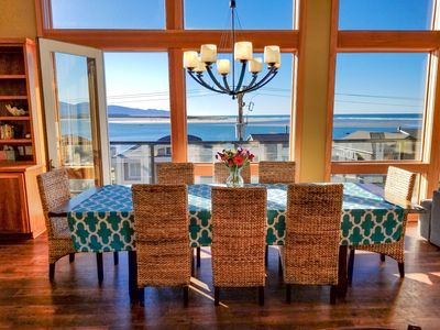 Photo for Large, Modern, Ocean-view home with HOT TUB just steps to the beach!