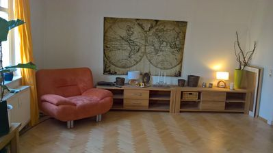 Photo for BRIGHT, FULLY FURNISHED APARTMENT IN HISTORICAL VILLA WITH GARDEN