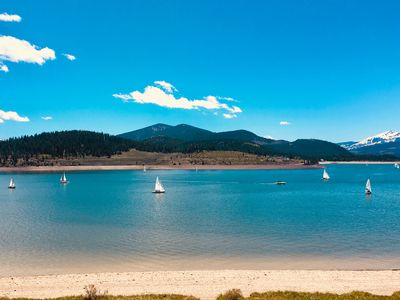 Photo for On the Water - with Spectacular Panoramic Lake and  Mountai View's