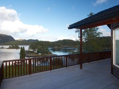 Photo for Dream holiday house on Bømlo for 6 persons with panoramic view of the fjord