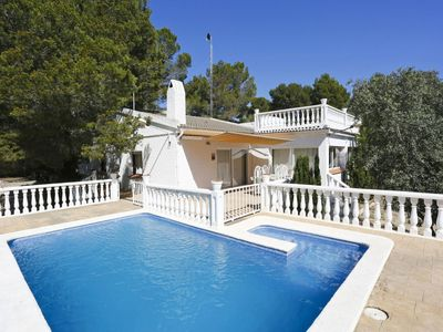 Photo for Stunning private villa with private pool, A/C, WIFI, TV, washing machine and parking