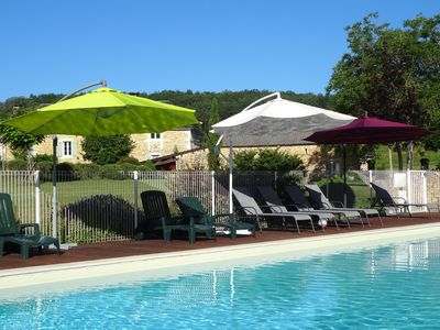 Photo for One of 7 Dordogne holiday cottages with heated pool & 9 hole pitch & putt course