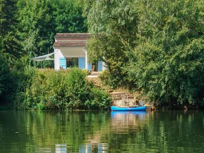 Photo for Dream house on the banks of the Aveyron river with private jetty!