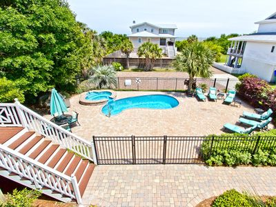 Photo for Large Home with Private Pool and Partial Ocean View, Just 1 Block to Nearest Beach Access